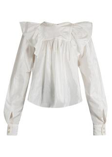 Isabel Marant Arlington ruffled-shoulder blouse