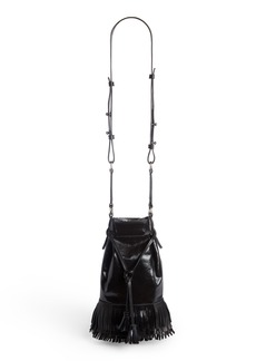 Isabel Marant Askiah Fringe Leather Crossbody Bag