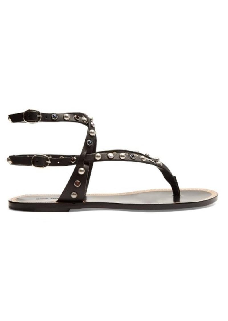 350e6b065d45 SALE! Isabel Marant Isabel Marant Audrio stone-embellished sandals