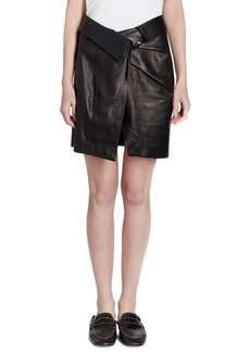 Isabel Marant Baixa Leather Wrap Skirt