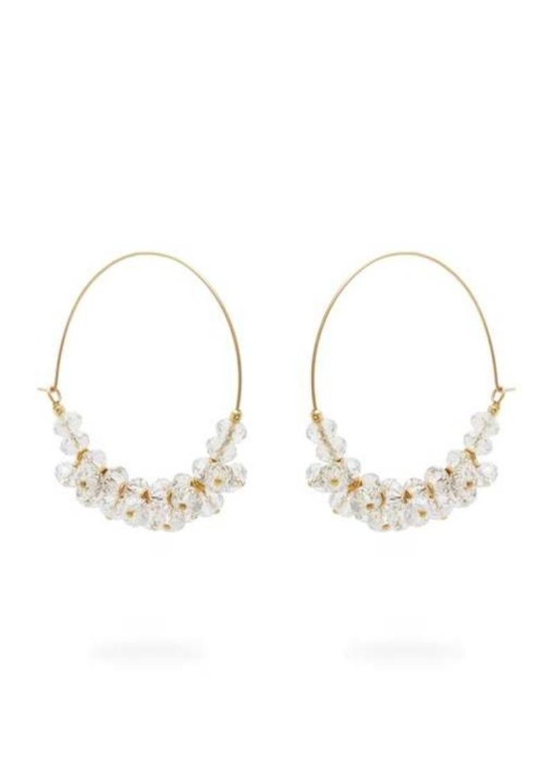 Isabel Marant Bead-embellished hoop earrings