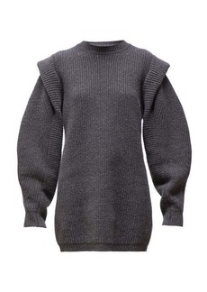 Isabel Marant Beatsy balloon-sleeve cashmere-blend sweater dress
