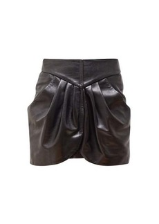 Isabel Marant Beliah pleated cotton-moleskin mini skirt