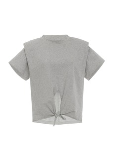 Isabel Marant Belita Tie-Detailed Cotton-Jersey T-Shirt