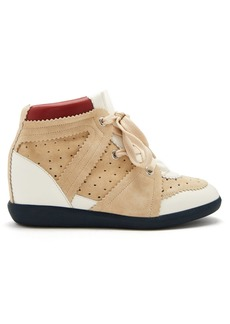 Isabel Marant Betty concealed-wedge suede trainers