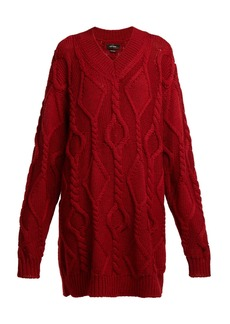 Isabel Marant Bev cable-knit wool sweater