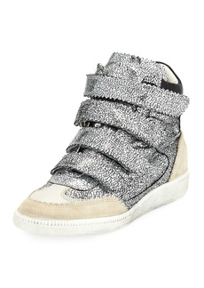 Isabel Marant Bilsy Crackled Multi-Strap Sneakers