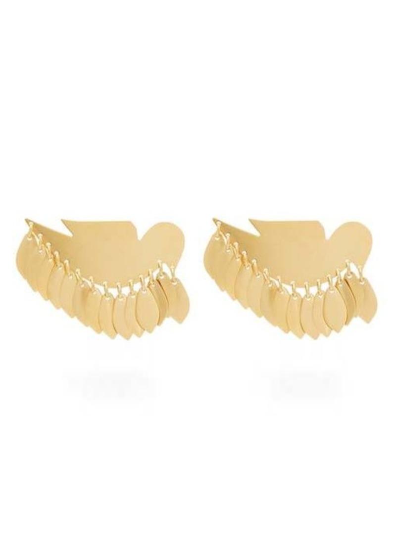 Isabel Marant Bird-pendant clip earrings