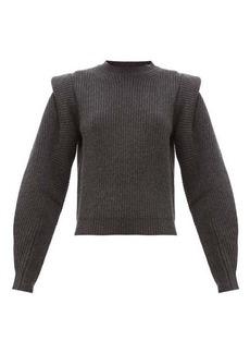 Isabel Marant Bolton pintucked-shoulder cashmere-blend sweater