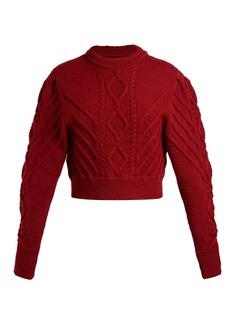 Isabel Marant Brantley aran-knit cotton sweater