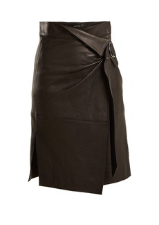 Isabel Marant Breyson leather wrap skirt