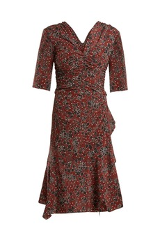 Isabel Marant Brodie ruched floral-print stretch-silk dress