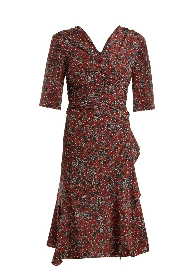ed1966c09c Isabel Marant Isabel Marant Brodie ruched floral-print stretch-silk ...