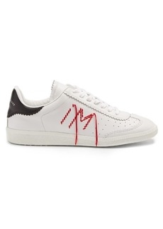 Isabel Marant Bryce logo-embroidered leather low-top trainers