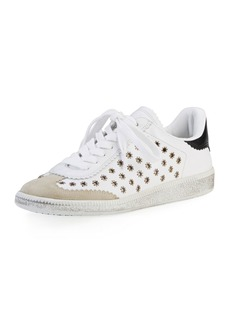 Isabel Marant Bryce Studded Leather Low-Top Sneaker