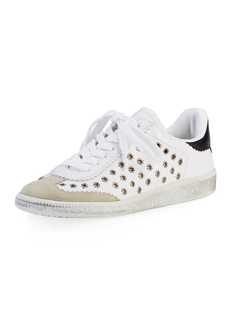 b7934097189 Isabel Marant Isabel Marant Bryce Studded Leather Low-Top Sneaker ...