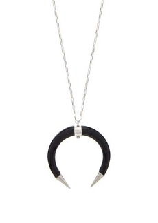 Isabel Marant Buffalo-horn drop necklace