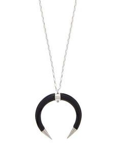 Isabel Marant Buffalo-horn drop necklace