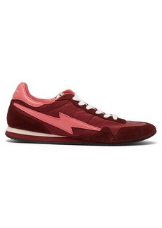 Isabel Marant Bustee lightning-bolt leather and suede trainers
