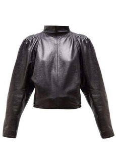 Isabel Marant Caby high-neck leather top