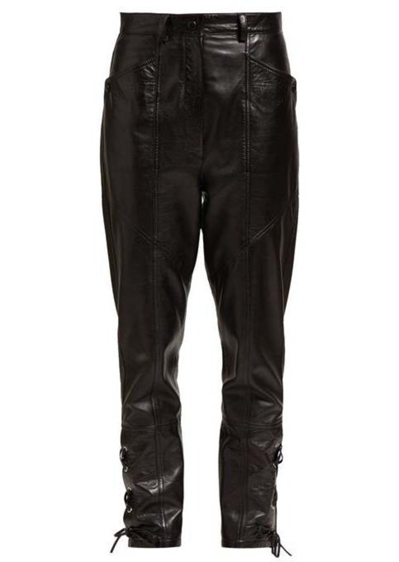 Isabel Marant Cadix lace-up leather trousers