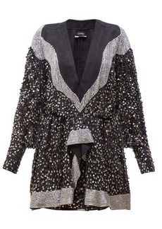 Isabel Marant Caldes sequinned chiffon mini dress