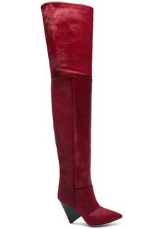 Isabel Marant Calf Hair Lostynn Thigh High Boots