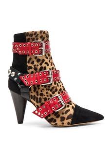 Isabel Marant Calf Hair Lysett Eyelet Wild Shoes