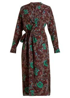 Isabel Marant Calypso silk wrap dress