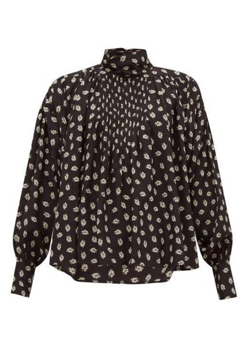 Isabel Marant Candice floral-print silk blouse