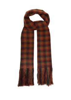 Isabel Marant Carlyna check cashmere scarf