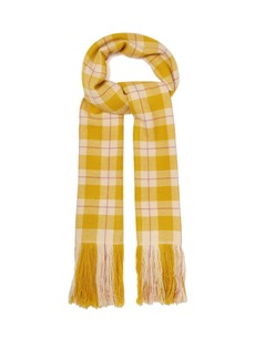 Isabel Marant Carlyna checked cashmere scarf