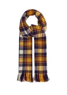 Isabel Marant Carver checked cashmere blanket scarf