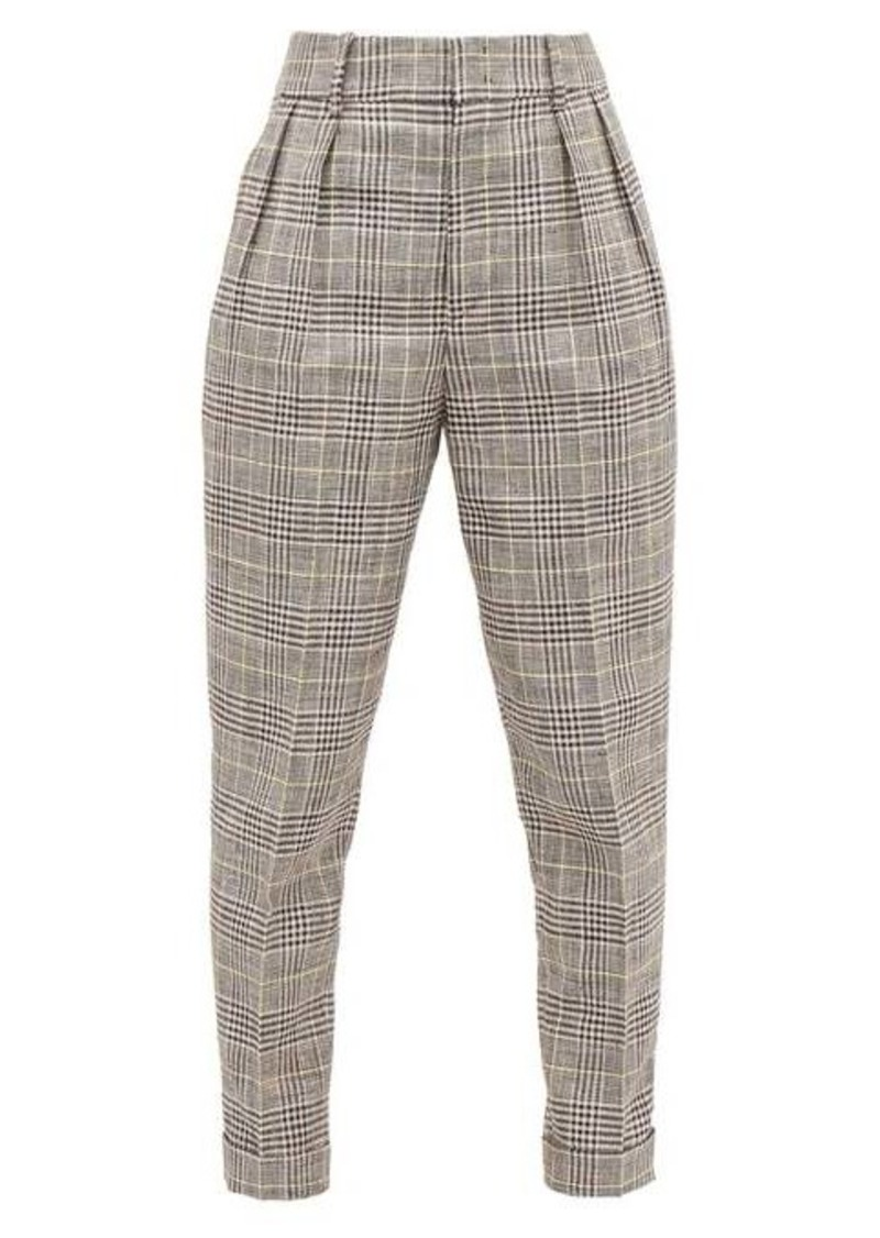 Isabel Marant Ceyo checked slim-fit trousers