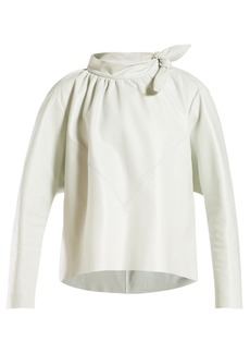 Isabel Marant Chay tie-neck leather top