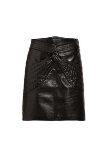Isabel Marant Chaz quilted leather mini skirt