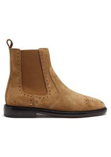 Isabel Marant Chelaya brogue-detail suede chelsea boot