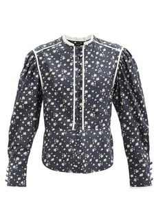 Isabel Marant Cleosi floral-printed cotton-poplin blouse