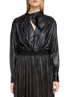 Isabel Marant Coated Tie Neck Blouse