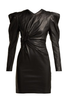 Isabel Marant Cobe knotted leather mini dress