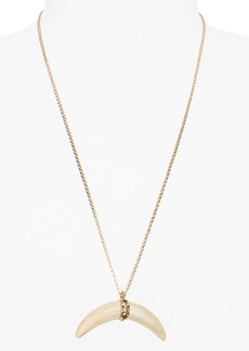 Isabel Marant Collier Horn Pendant Necklace