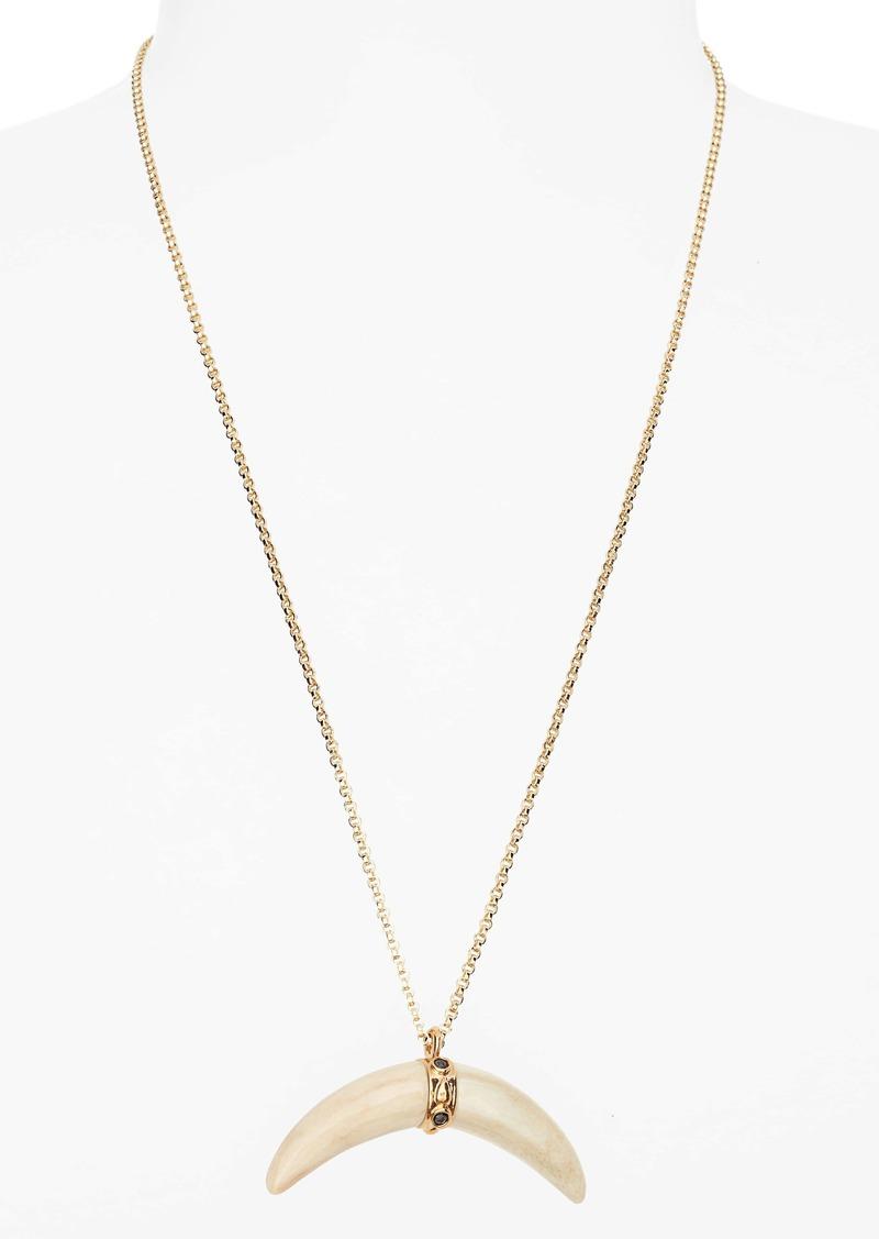 Isabel Marant Collier Horn Pendant Necklace