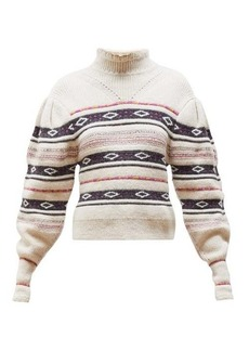 Isabel Marant Conley high-neck striped sweater