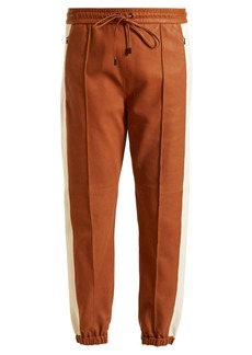Isabel Marant Coy side-stripe leather track pants