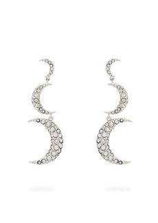 Isabel Marant Crescent-moon crystal-embellished drop earrings