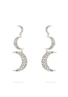 Isabel Marant Crescent-moon crystal-embellished drop earrings