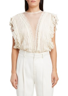 Isabel Marant Crochet Ruffle Top
