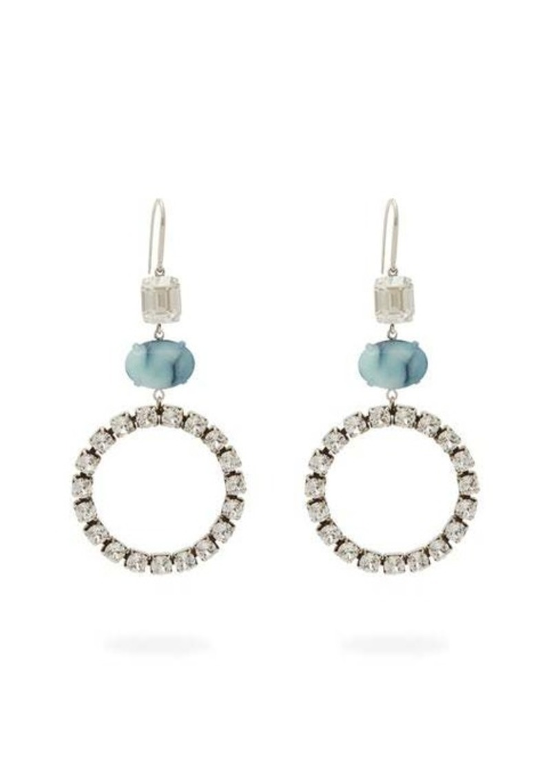 Isabel Marant Crystal and stone drop earrings