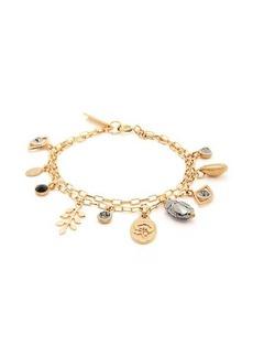 Isabel Marant Crystal-embellished charm bracelet