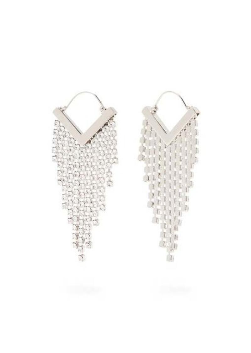 Isabel Marant Crystal-embellished fringed earrings